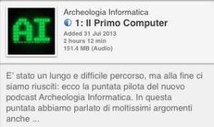 archeologia informatica itunes podcast