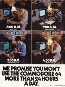 Commodore 64 24 hours a day
