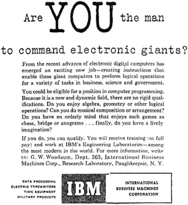 IBM programmatori 1969