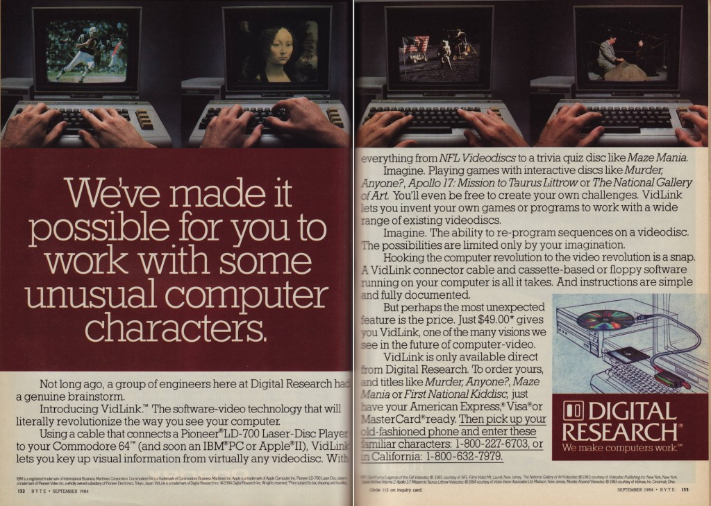 Digital Research VidLink - 9-19 byte