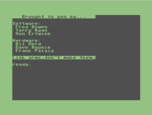 Commodore 128 easter egg