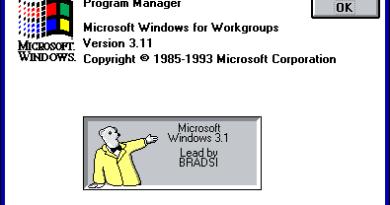 Windows 3.1 easter egg