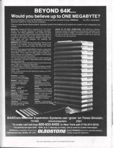 Gladstone 1 megabyte ZX81 AI